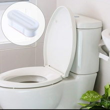 4pc Portable Bumpers Toilet Seat Cover Lifter Kit with Strong Adhesive Avoid Touching Hygienic Clean Supplies