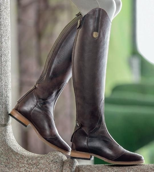 Women's Smooth Leather Horseback Riding Knee High Boots 2