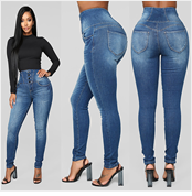 Hf14a5a40de52424cb326f567247c3a73w jeans for women with high waist pants for women plus up large size skinny jeans woman denim modis streetwear spodnie damskie#C