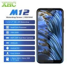 LEAGOO M12 Android 9.0 Cep Telefonu RAM 2GB ROM 16GB 5.7 waterdrop Akıllı Telefon Dört Çekirdekli Çift SIM LTE 4G 8.0MP Kamera Cep Telefonu