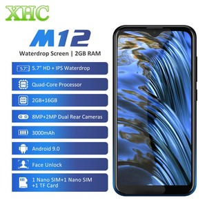 Image 1 - LEAGOO M12 Android 9.0 Cep Telefonu RAM 2GB ROM 16GB 5.7 waterdrop Akıllı Telefon Dört Çekirdekli Çift SIM LTE 4G 8.0MP Kamera Cep Telefonu