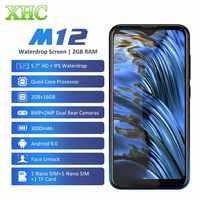 LEAGOO M12 Android 9.0 Del Telefono Mobile RAM 2GB ROM 16GB 5.7 ''waterdrop Smartphone Quad Core Dual SIM LTE 4G 8.0MP Fotocamera Del Cellulare