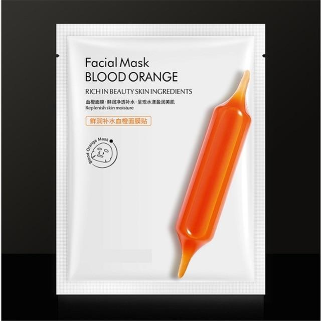 5pcs Blood Orange Hyaluronic acid soothing Mask High Moisturizing Firming Brightening Acne Treatment korean face mask 2