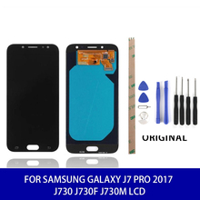 Original SUPER AMOLED 5 .5 LCD For Samsung Galaxy J7 PRO 2017 J730 J730F J730M  Lcd Display Touch Digitizer+Tools Mobile Screen