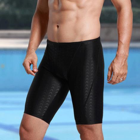 Hot Springs Shark Skin Men's Short Faux Swimming Trunks Industry Quick-Dry Men's Boxer Briefs Large Size Tour Shark Skin Swimmin