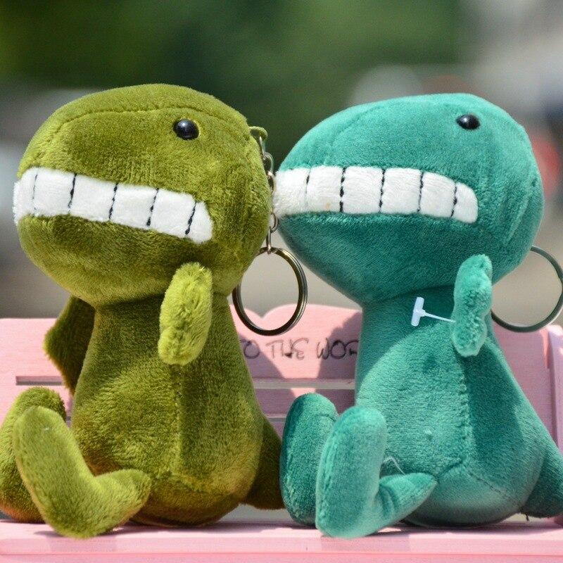 Kawaii mini dinossauro brinquedo dragão pelúcia brinquedo de pelúcia 15cm altura chaveiro pingente de brinquedo de pelúcia boneca