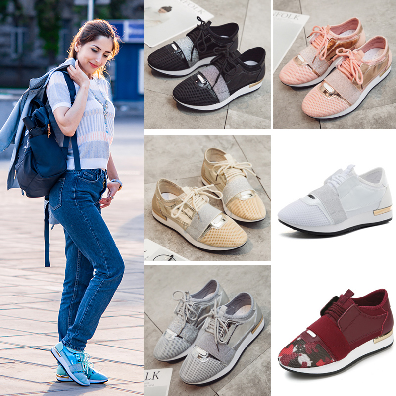 Fujin Women Sneakers New 2019 Spring Fashion Pu Leather Platform shoes Ladies Trainers Chaussure Femme Women Casual Shoes in Women 39 s Flats from Shoes