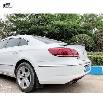 Para VW CC 2013-2018 R estilo de fibra de carbono trasero maletero labio Renntech estilo Passat CC alerón trasero decoración del coche