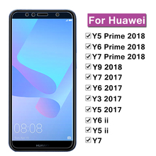 For Huawei Y5 Y6 Y7 Y9 Prime 2018 Y 5 6 7 9 2017 Protective Glass  Screen Protector film On For Huawei Y9 2018 Tempered Glass 9d glass for huawei y7 y9 2018 protective glass for huawei y9 2019 y9 prime y7 prime 2019 jkm lx1 p smart z screen cover film