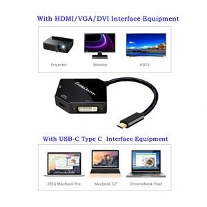 Image 2 - type c to VGA HDMI DVI Multifunction Converter USB C to hdmi 4k Adapter usb 3.1 hub for Smartphone Samsung laptop Macbook Dell