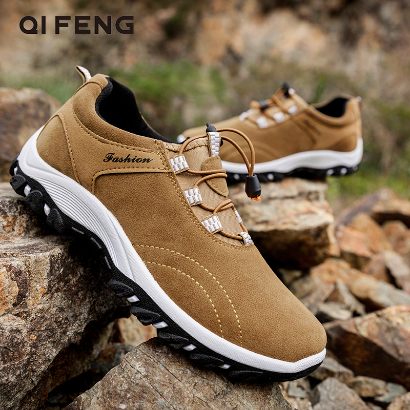 Large Size 48 Casual Leather Shoes Winter Men Outdoor Suede Sport Shoes Walking Footwear Summer Travel Shoes Classical Sneakers