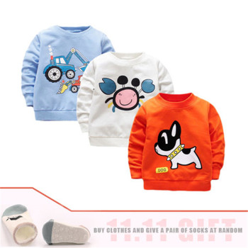 3Pieces/lot Baby Boy t-shirt Long Sleeve Baby Boys Tops Cotton Cartoon Autumn Baby Boy T shirt First Birthday Party Boy Clothes toddler sweatshirt boy autumn 2019 cartoon funny superman hoodies pullover tops t shirt cotton soft print long sleeve boys tops