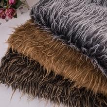 160*100 см, двойной цвет, искусственный плюшевый мех, ткань для пальто, чехол для подушки, жилет, меховой воротник, длинные волосы, плюшевый мех, tissu telas