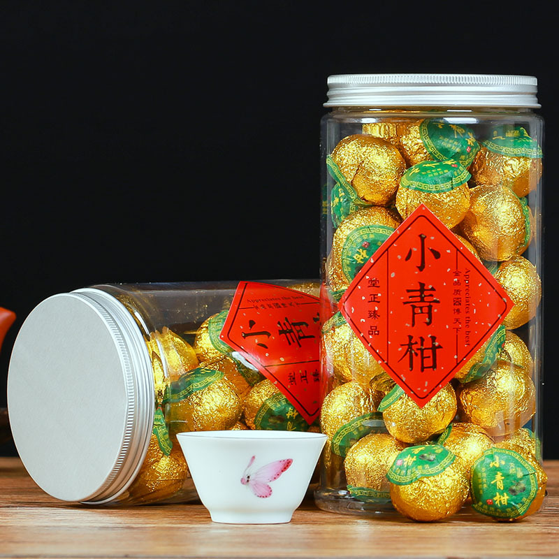 Super Small Green Orange Pu'er Tea Yunnan Palace Orange Pu Tea Super Orange Pu Tea Oolong Tea Ceremony Tea Canned Green Food 1