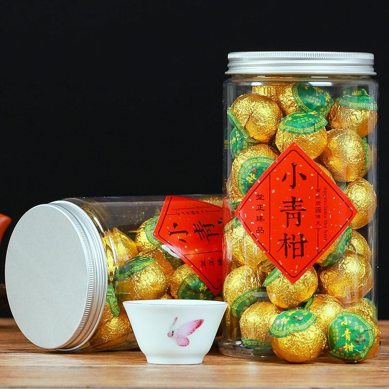 Super Small Green Orange Pu'er Tea Yunnan Palace Orange Pu Tea Super Orange Pu Tea Oolong Tea Ceremony Tea Canned Green Food 1