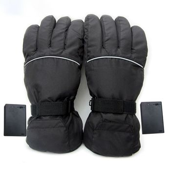 1 Pair Upgraded Electric Heated Gloves 4.5V Electric Gloves Battery Box Power Ski Windproof Heating Gloves Motorcycle Ski Gloves 3000mah rechargeable battery pu leather windproof winter warm ski outdoor work motorcycle cycling electric heated hands gloves