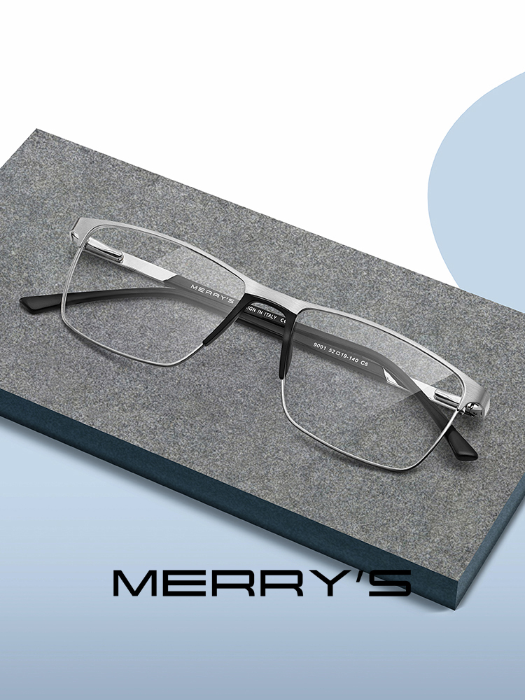 Prescription Eyeglasses Square Eye-Myopia Ultralight Merrys-Design Titanium-Alloy Fashion