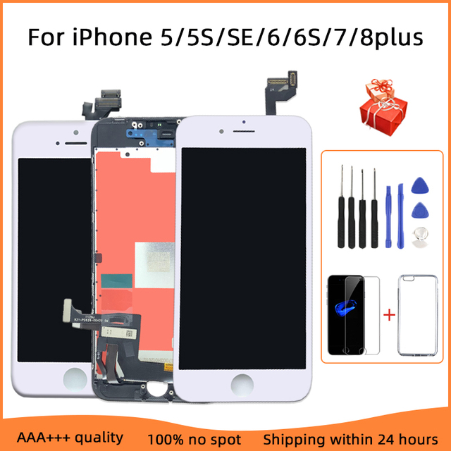 AAA+++LCD Display For iPhone 6 6S 7 8 Plus With Perfect 3D Touch Screen Digitizer Assembly For iPhone 5 5S No Dead Pixel 1