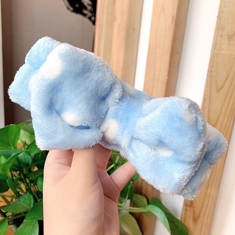 2019 Women Makeup Coral Fleece Head Wash Face Soft Hair Holder Elaic Top Knot Hairs,3