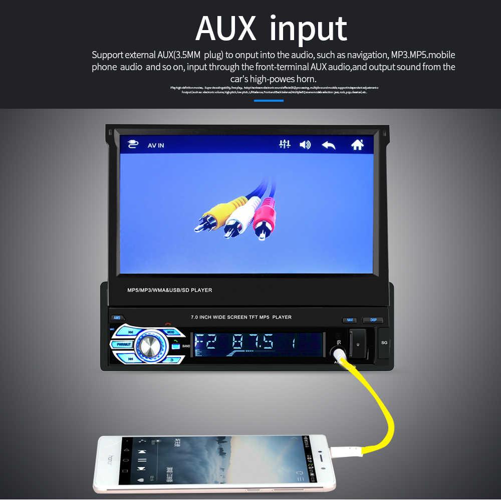 """Một trong 1 DIN Xe Đài Phát Thanh ĐỒNG HỒ Định VỊ GPS Autoradio Bluetooth Đa Phương Tiện MP5 Video 1din 7 """"Màn Hình Cảm Ứng HD AUX-IN FM/USB 9601G"""