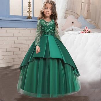 Vestido de otoño-invierno de 4 a 14 años para adolescentes, fiesta de...