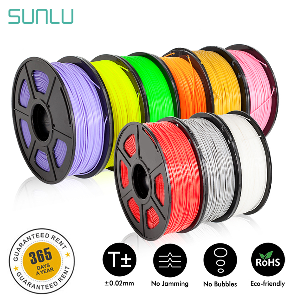 SUNLU 3d Filament 1.75mm 1KG PETG ABS Wood Fiber PLA Filament 3d Printer Material Accuracy Dimension +/-0.02 TPU 0.5KG