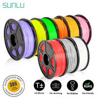 SUNLU 3d Filament 1.75mm 1KG PETG ABS Wood Fiber PLA Filament 3d Printer Material Accuracy Dimension +/-0.02 TPU 0.5KG