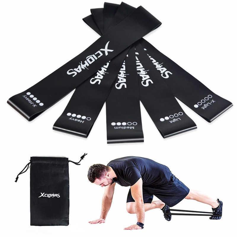 Xc Lohas Pilates Yoga Resistance Bands Set Indoor Sport Gym Fitness Rubber Stretch Training Apparatuur Elastische Expander 5 Niveaus