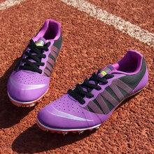 Трекинг Спайк обувь Открытый тренировочный спортивный гоночная обувь для мужчин трек и поле обувь для Прыгунов Мужская Спортивная обувь кроссовки 44 45