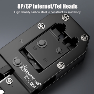 Image 3 - SAMZHE Crimping Plier חוט Tracker RJ11/12/45 כבל מלחץ עבור 6P/8P Ethernet וטלפון כבל ביצוע