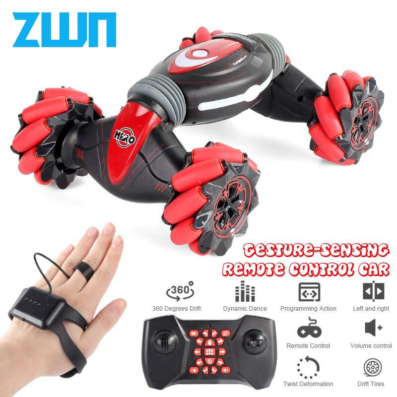 Control remoto truco coche gesto inducción torsión todoterreno vehículo luz música Drift baile lado conducción RC juguete regalo para niños