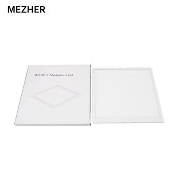 Mezher 40cm LED Studio Photography Shadowless Bottom Lighting Panel Photography Tent Box and Polarity Dimmer