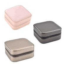Jewelry Box Creative Portable Storage Case Necklace Earring Ring Multifunctional Jewellery Container Makeup Organizer  Mirror