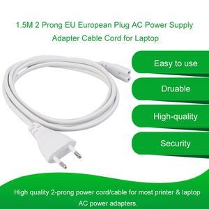 1,5 M gran oferta 1 Uds Volex europeo 2 clavijas Puerto AC Cable de alimentación para Mac Mini Router para apple TV PS2 PS3 Cable de alimentación Delgado