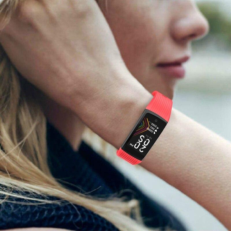 Hf14c771731c847a0be919b72af0e75bcg R12 Smart Band Bracelet Fitness Bracelet with Pressure Measurement Health Wristband Pedometer Heart Rate Monitor Cardio Bracelet