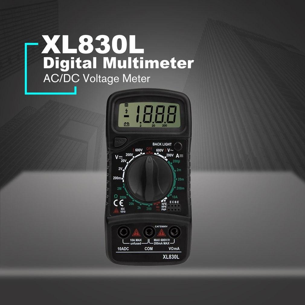 Xl830 mini multímetro digital 1999 contagens ac