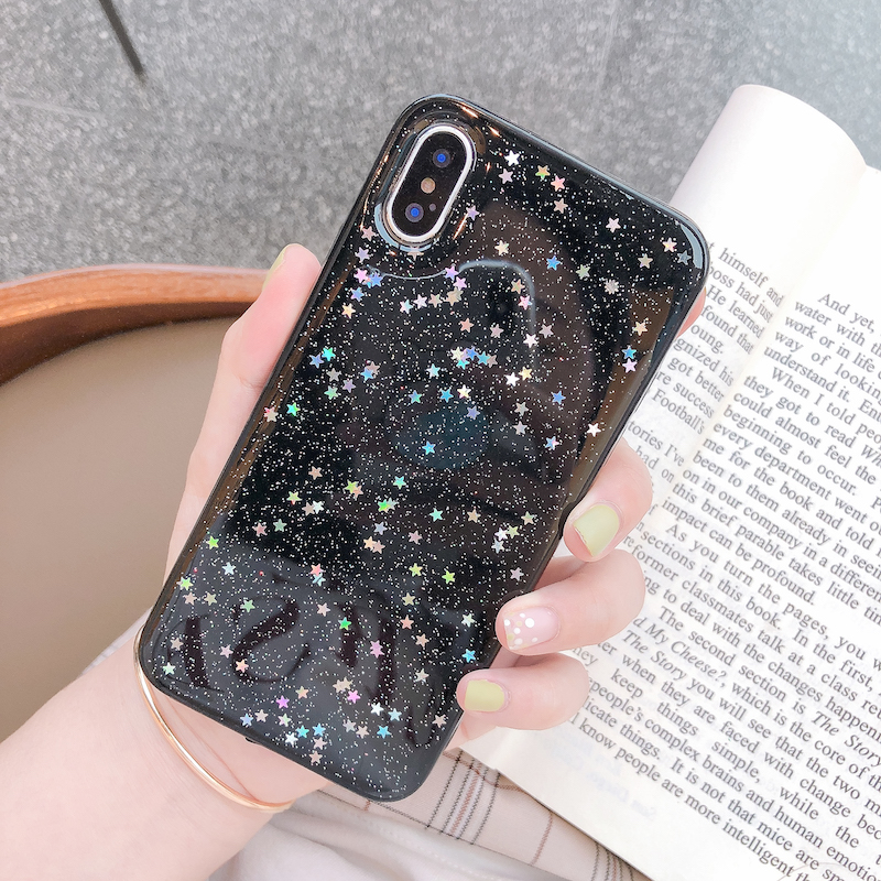 Hf14caa440cbf4ed9b8b69c44c9e3d6e0J - Ottwn Glitter Phone Case For iPhone 11 Case 11 Pro XS Max XR X 6 6s 7 8 Plus Love Heart Star Sequins Soft Bling Clear Cover Capa
