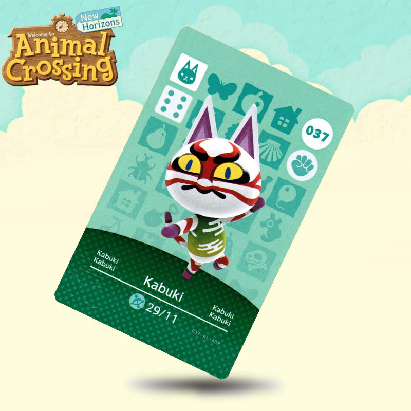 037 Kabuki  Animal Crossing Card Amiibo Cards Work For Switch NS 3DS Games