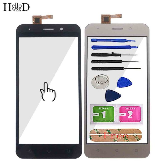 Mobile Touch Screen Front Glass For Inoi 2 / Inoi 2 Lite Digitizer Panel Touch Screen TouchScreen Tools 3M Glue Wipes
