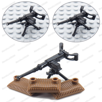 Assembly Military American M1919 Heavy Machine Gun WW2 Weapons Figures Building Block Army Moc Battlefield Model Child Gift Toys military figures maxine heavy machine gun weapons building block equipment diy ww2 army battlefield model moc christmas gift toy