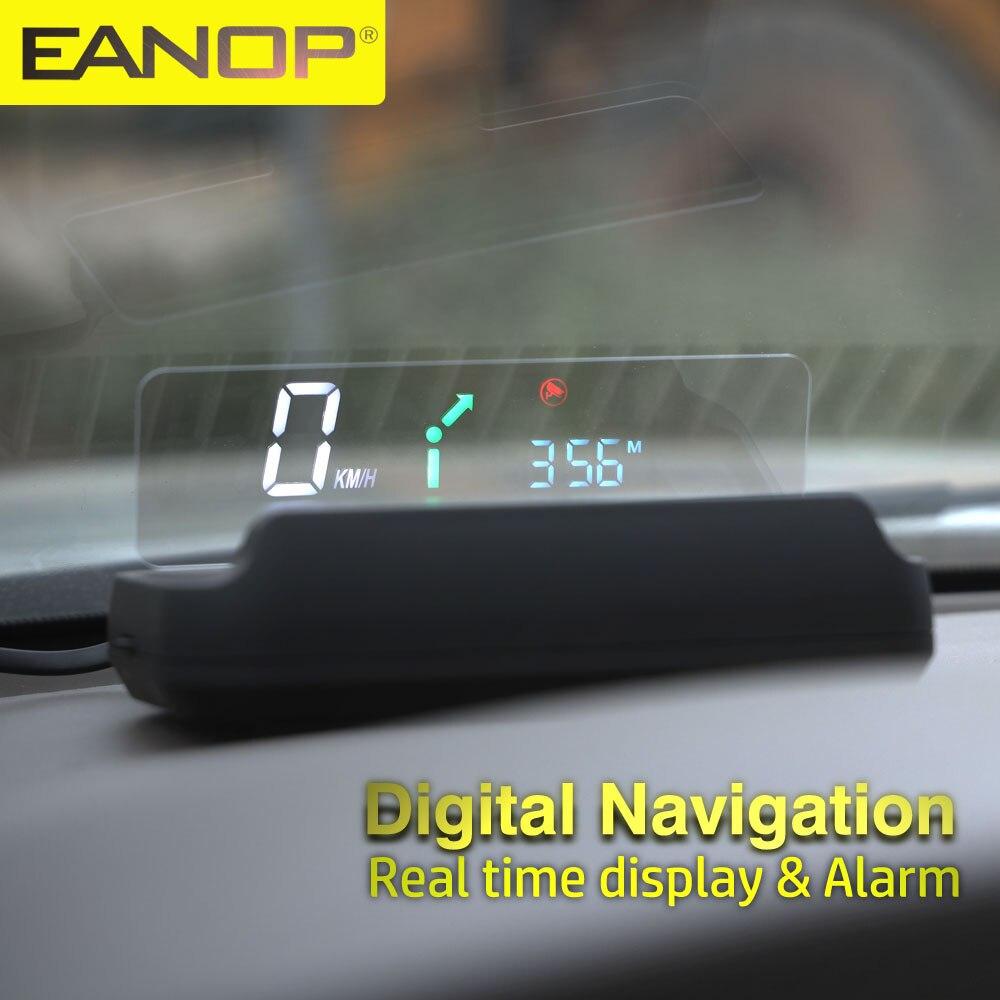 Зеркальный головной прибор EANOP M40X OBDII, дисплей, скорость транспортного средства, поддержка об/мин, проектор скорости, потребление масла, нави...