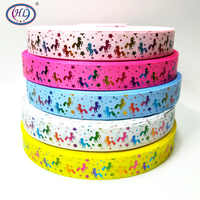 Christmas Ribbon Hl 5 Yards 25mm Hot Stamping Grosgrain Ribbons Wedding Party Decoration Diy Sewing Crafts For Making Hair Bows
