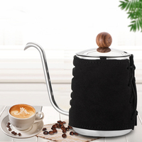 500ML Stainless Steel Coffee Drip Kettle No Handle Anti Hot Hanging Ear Gooseneck Spout Coffee Tea Pot for Barista Tools Cafeteiras     -