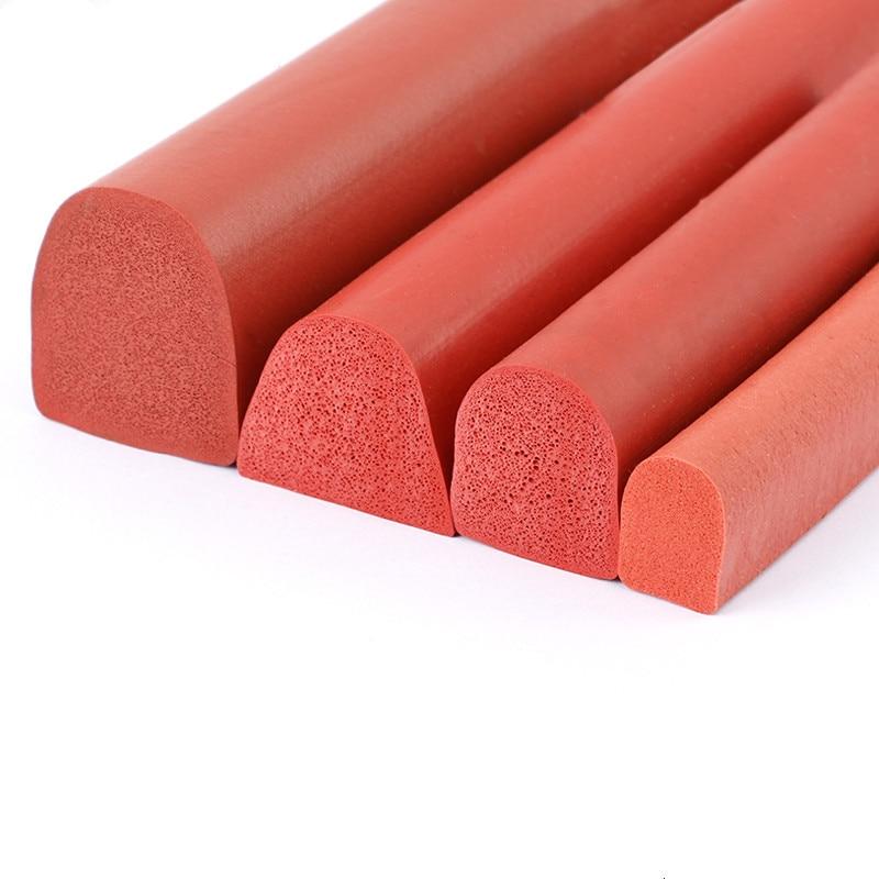 Silicon Foam Sponge Bar Heat Insulation Hemisphere Rubber Seal Strip Car Machine Sealing Strip Red White