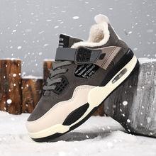 Новая зимняя повседневная детская обувь с бархатным утеплителем