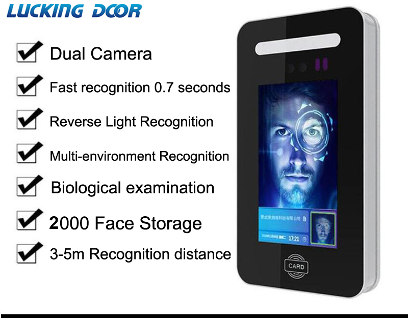 Face Facial Recognition Time Attendance System Access Control System Employee Time Clock Face Dynamic Attendance 13.56Mhz IC