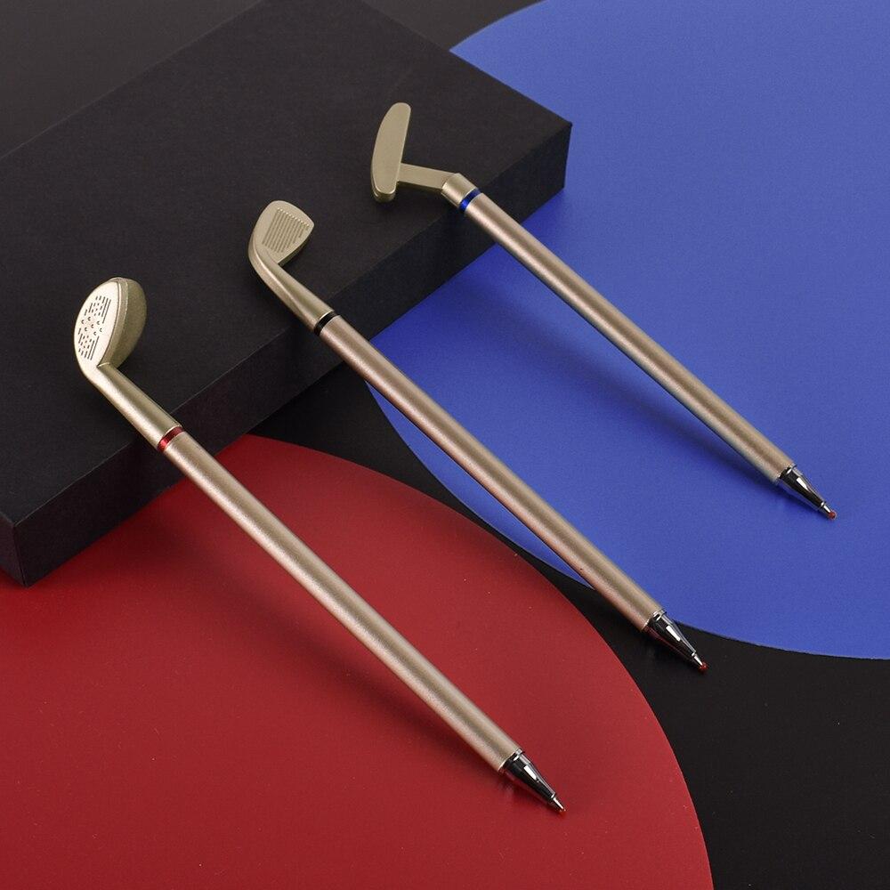 3 Color Gel Ink Golf Pen Gift For Golfer Office Signing Miniature Model Golf Club Pens ABS Club Head Blue Red Black Japan Ink