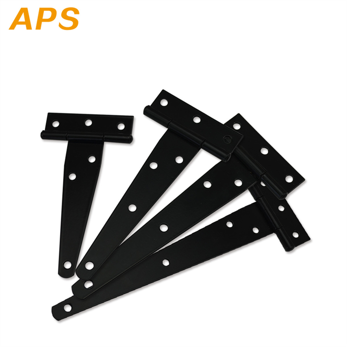 1pcs 4/5/6/8inch Iron Tee Hinge Black T Hinges Cabinet Hinge Garden Shed  Wooden Door Gate For Light Gates Doors Furniture