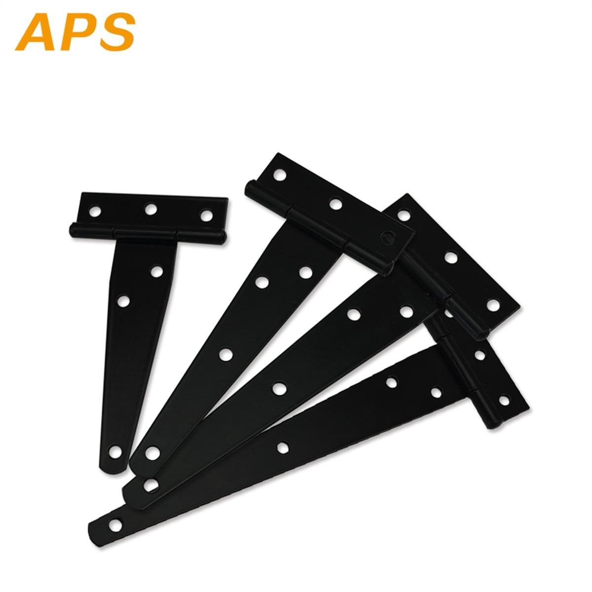 1pcs 4/5/6/8inch Iron Tee Hinge Black T Hinges Cabinet Hinge Garden Shed  Wooden Door Gate For Light Gates Doors Furniture