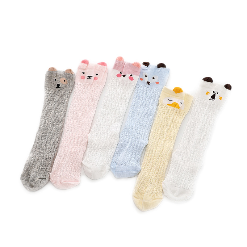 Summer Breathable Cotton Baby Socks Thin Section Baby Children's Socks For Boys Girls Baby High Socks Mesh For Kids 0-4year Old